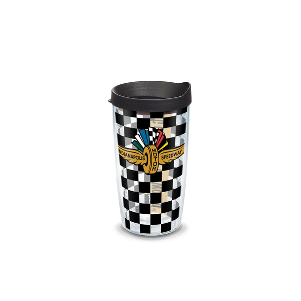 Wing Wheel and Flag Checkered 16oz Tervis Tumbler