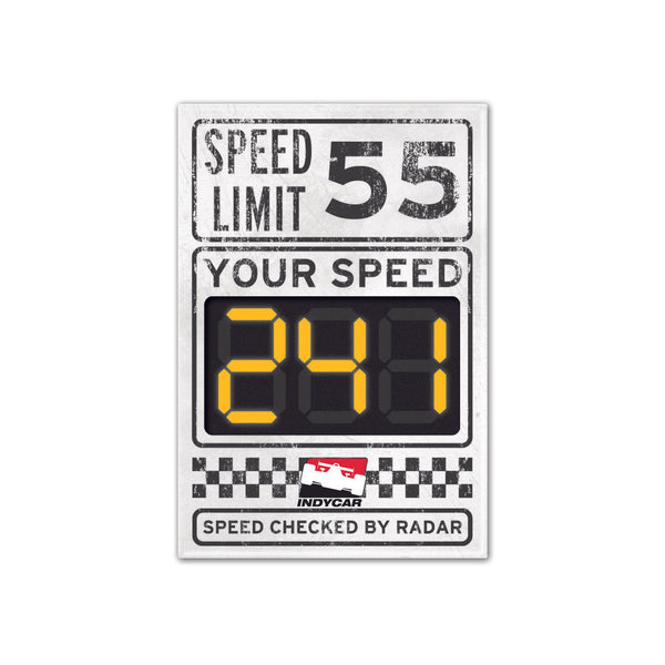 INDYCAR Speed Limit Decal