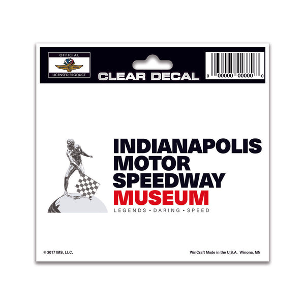 Indianapolis Motor Speedway Museum Clear Decal