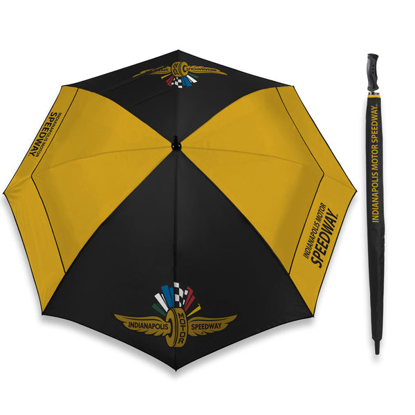 Wing Wheel and Flags Golf Umbrella