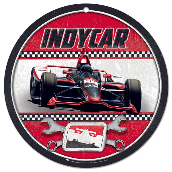 INDYCAR Round Plastic Garage Sign