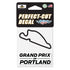 Grand Prix of Portland Perfect Cut Track Outline Decal