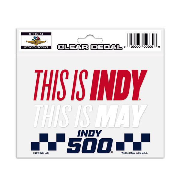 This Is Indy Clear Decal