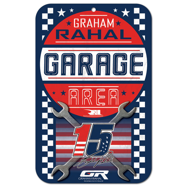 "Graham Rahal 11""x17"" Plastic Sign"