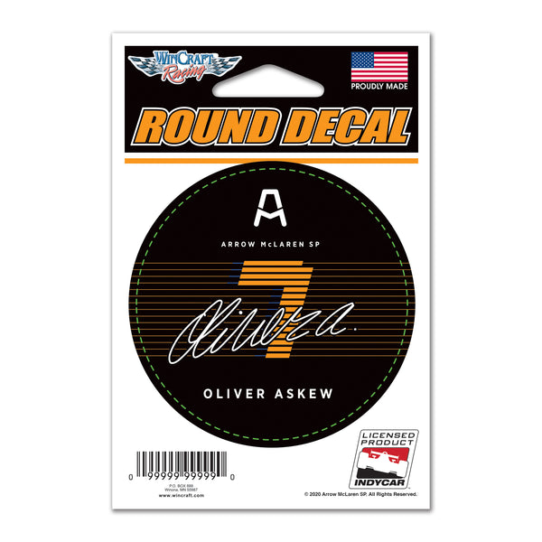"Oliver Askew ""7"" Round Decal"