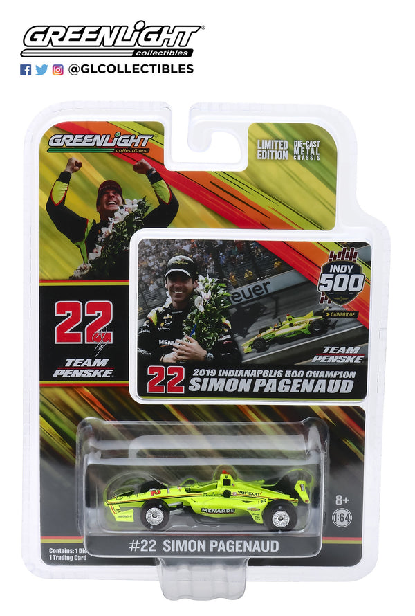 2019 Indy 500 Simon Pagenaud 1:64 Winner Raced Version Diecast