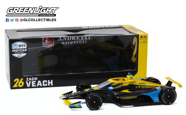 2020 Zach Veach 1:18 GAINBRIDGE Diecast