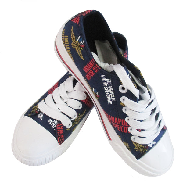 Ladies Indianapolis Motor Speedway Canvas Low Top Shoes