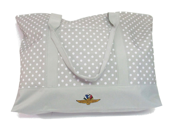 Wing Wheel and Flag Dot Tote