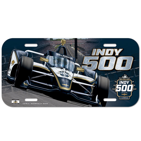 2021 Indy 500 License Plate