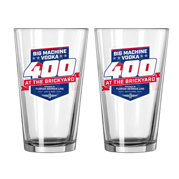 2020 Big Machine Vodka Brickyard 400 Pint Glass