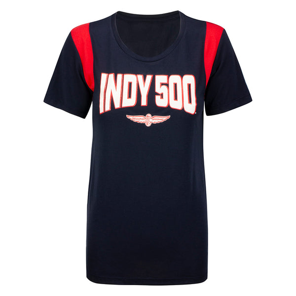Ladies Indy 500 Rayon Scoop T-Shirt