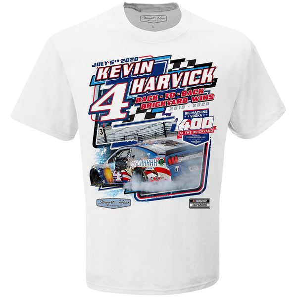 2020 Kevin Harvick Big Machine Vodka Brickyard 400 Winner T-Shirt