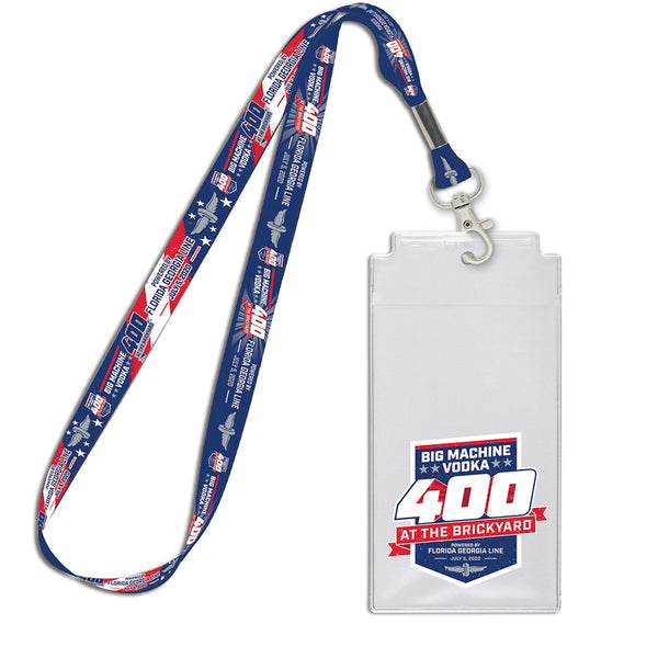 2020 Big Machine Vodka Brickyard 400 Credential Lanyard Set