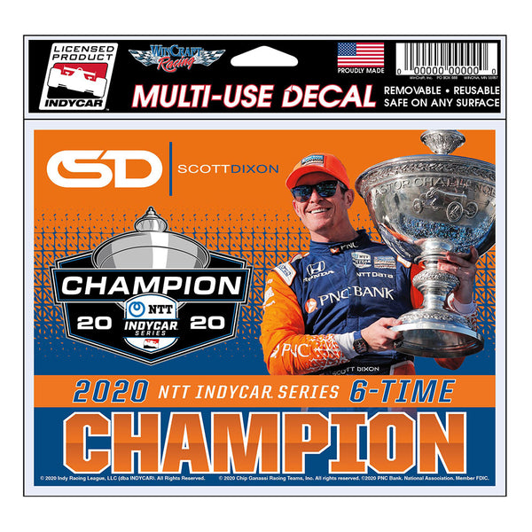 2020 NTT INDYCAR Series Scott Dixon Champion Decal