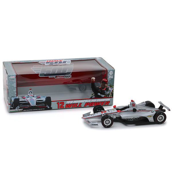 2018 Will Power Indy 500 Winner Autographed 1:18 Diecast