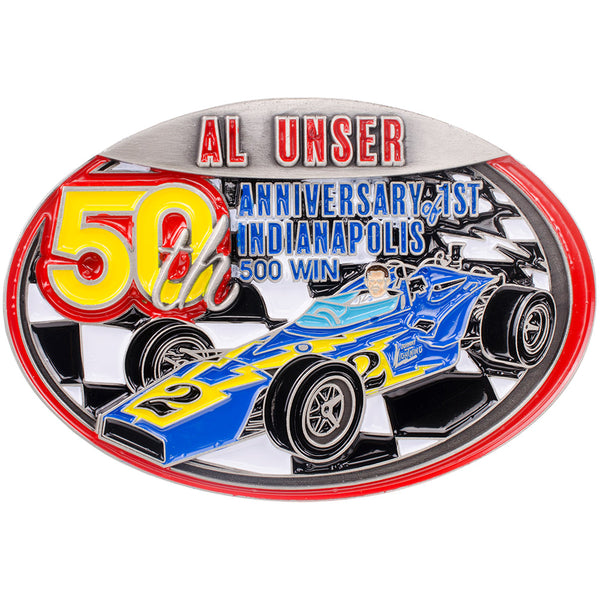 Al Unser Sr 50th Win Belt Buckle