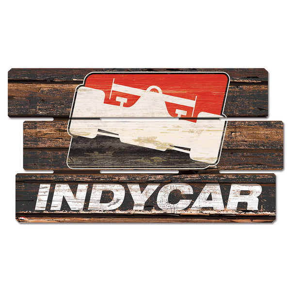 INDYCAR Vintage Wood Sign Autographed by Starting Field