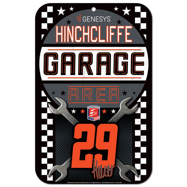 Jame Hinchcliffe 11X17 Plastic Sign