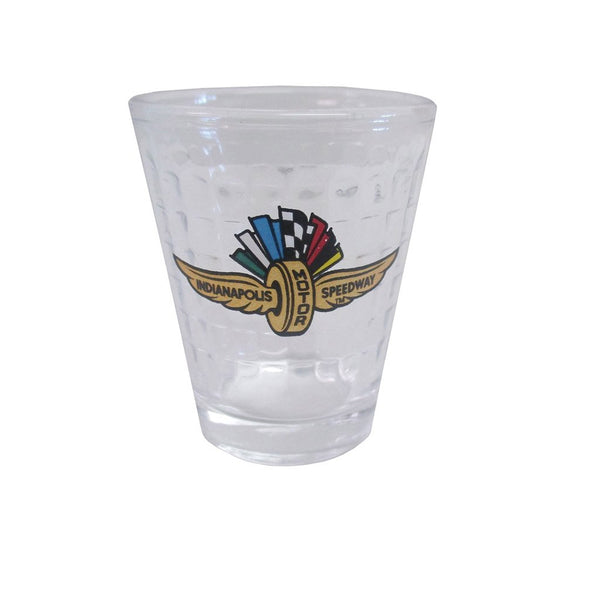 Wing Wheel and Flag Checkered Shot Glass