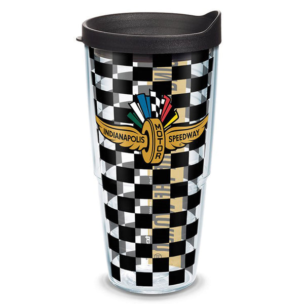 Wing Wheel and Flag Checkered 24oz Tervis Tumbler