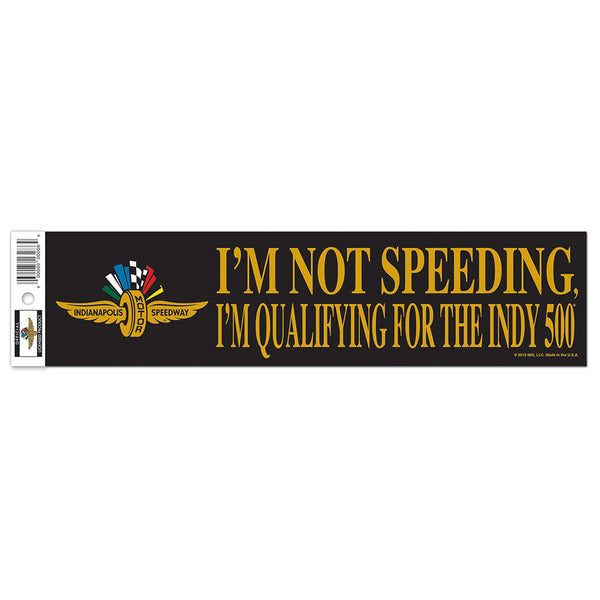 "Indy 500 Qualifying Bumper Strip 3"" x 12"""