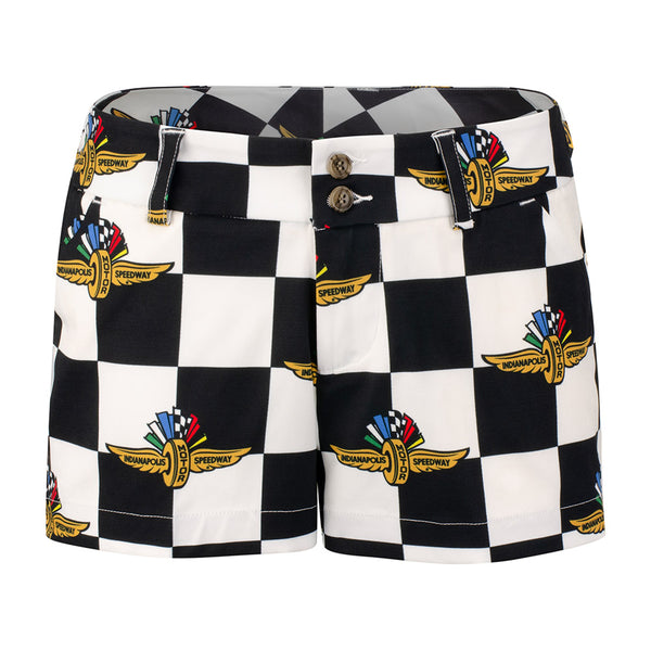 Ladies Wing Wheel and Flag Repeat Pole Shorts