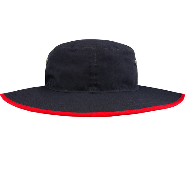 Wing Wheel and Flag Poly Panama Bucket Cap