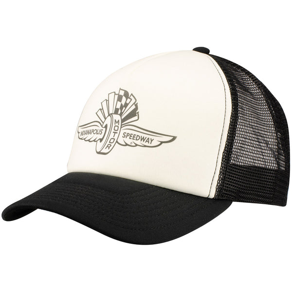 Wing Wheel and Flag Adjustable Trucker Cap