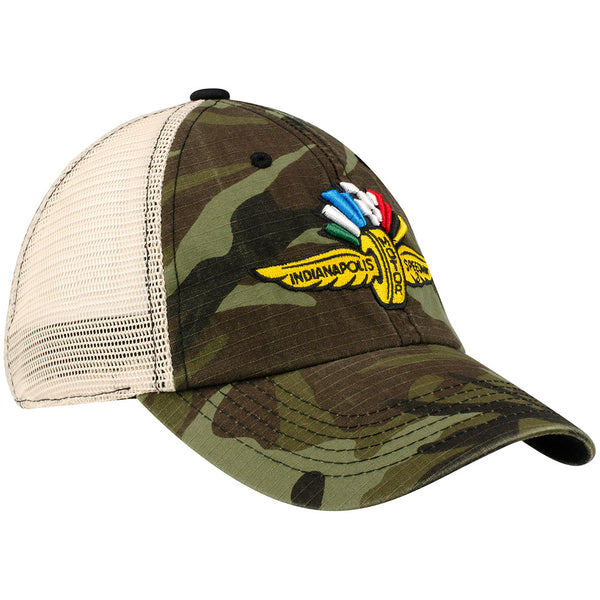Wing Wheel and Flag Camo Cap