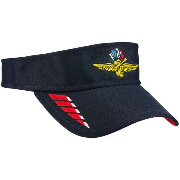 Indianapolis Motor Speedway Hex Tech Navy New Era Visor