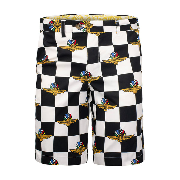 Wing Wheel and Flags Repeat Pole Position Shorts