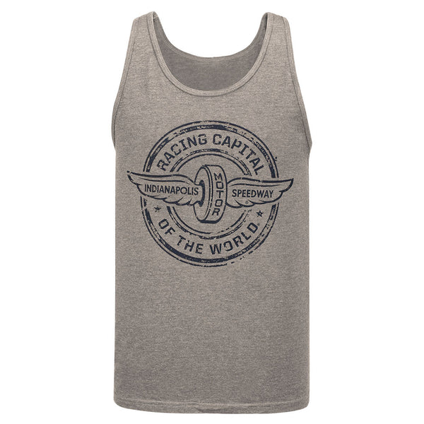 Wing and Wheel Grey Triblend Tank