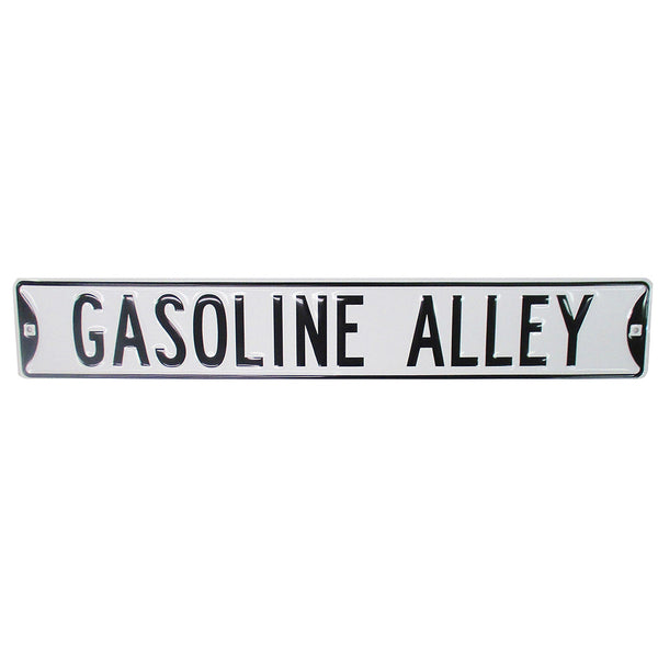 Gasoline Alley Street Sign Autographed by Starting Field