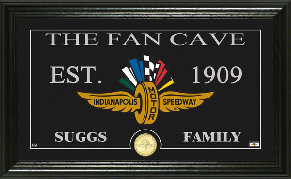 Indianapolis Motor Speedway Fan Cave Personalized Mint