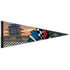 Wing Wheel and Flags Pagoda Checkered Premium Quality Pennant