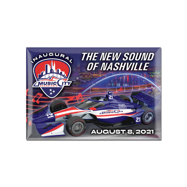2021 Music City Grand Prix Magnet