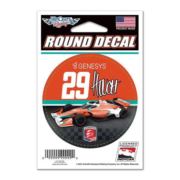 "James Hinchcliffe ""29"" Genesys Round Decal"