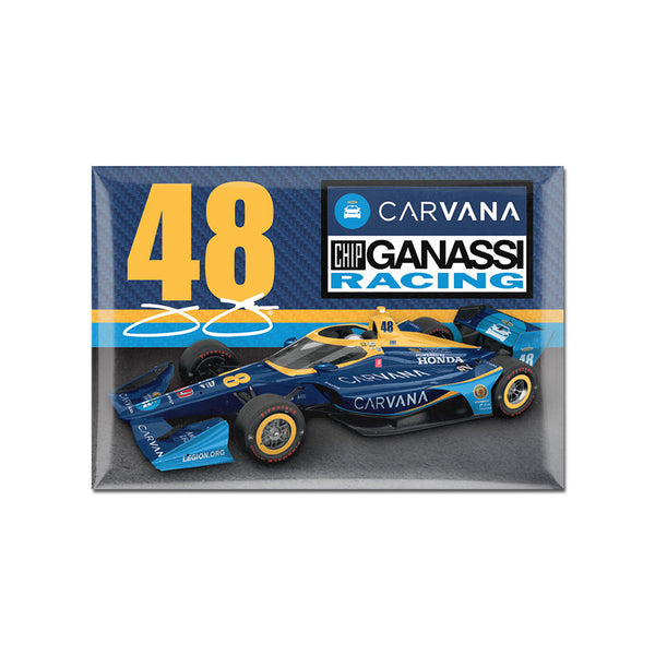 "Jimmie Johnson ""48"" Carvana 2"" X 3"" Magnet"