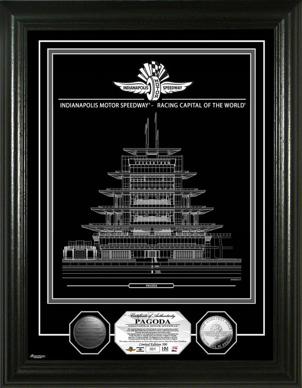 Indianapolis Motor Speedway Etched Silver Coin Photo Mint
