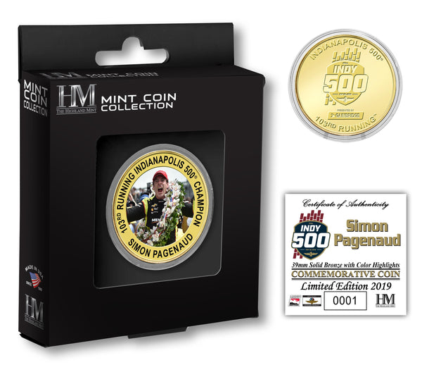 2019 Indy 500 Simon Pagenaud Winner Coin