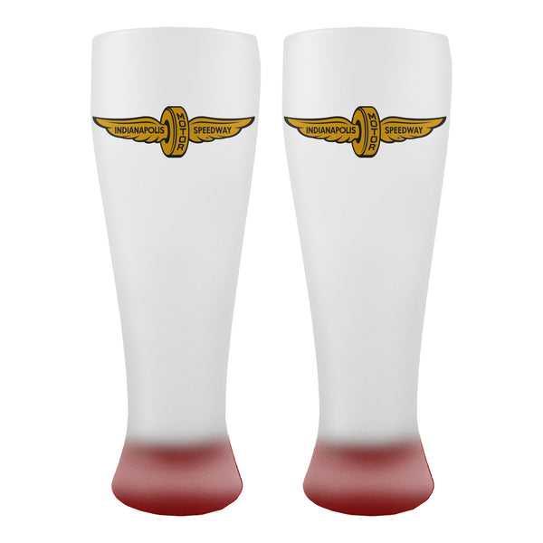Wing and Wheel 23oz Frosted Pilsner Glass