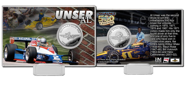 Al Unser Sr. Legends Silver Coin Card