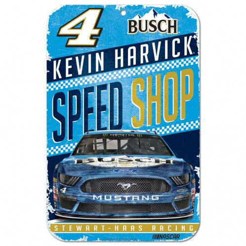 "Kevin Harvick Speed Shop 11""x 17"" Plastic Sign"