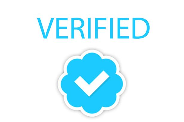 How can I verify my Twitter profile with the blue badge?