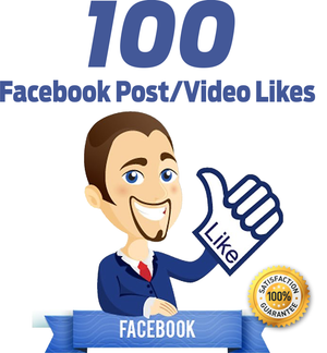 100 Facebook Post/Video Likes