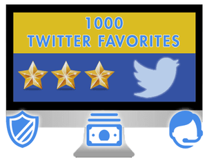 Huge Twitter Favorites Package (900 - 1100 likes)