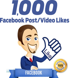 1.000 Facebook Post Video Likes