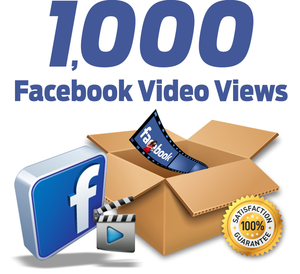 1.000 Facebook Video Views