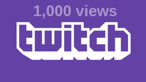 1,000 Twitch Views